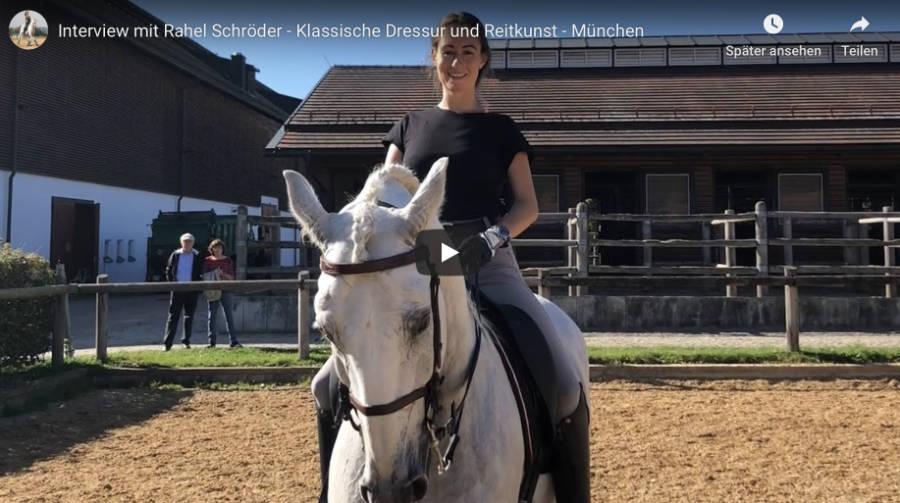 Klassische Dressur in München - Interview mit Rahel Schröder - Video