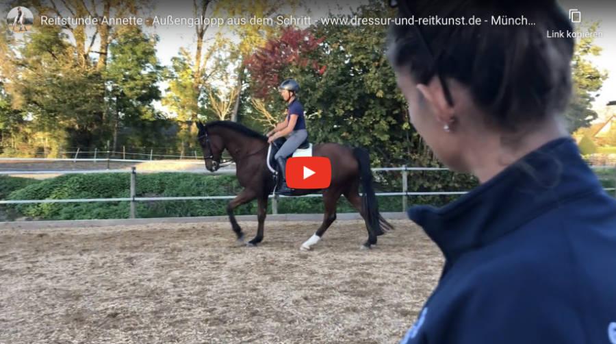 Klassische Dressur in München - Reitstunde Annette - Video