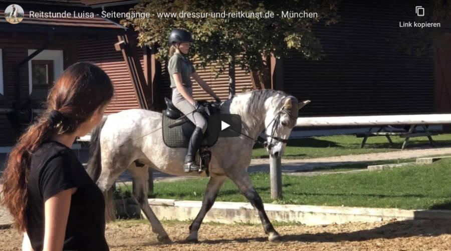 Klassische Dressur in München - Reitstunde Luisa - Video